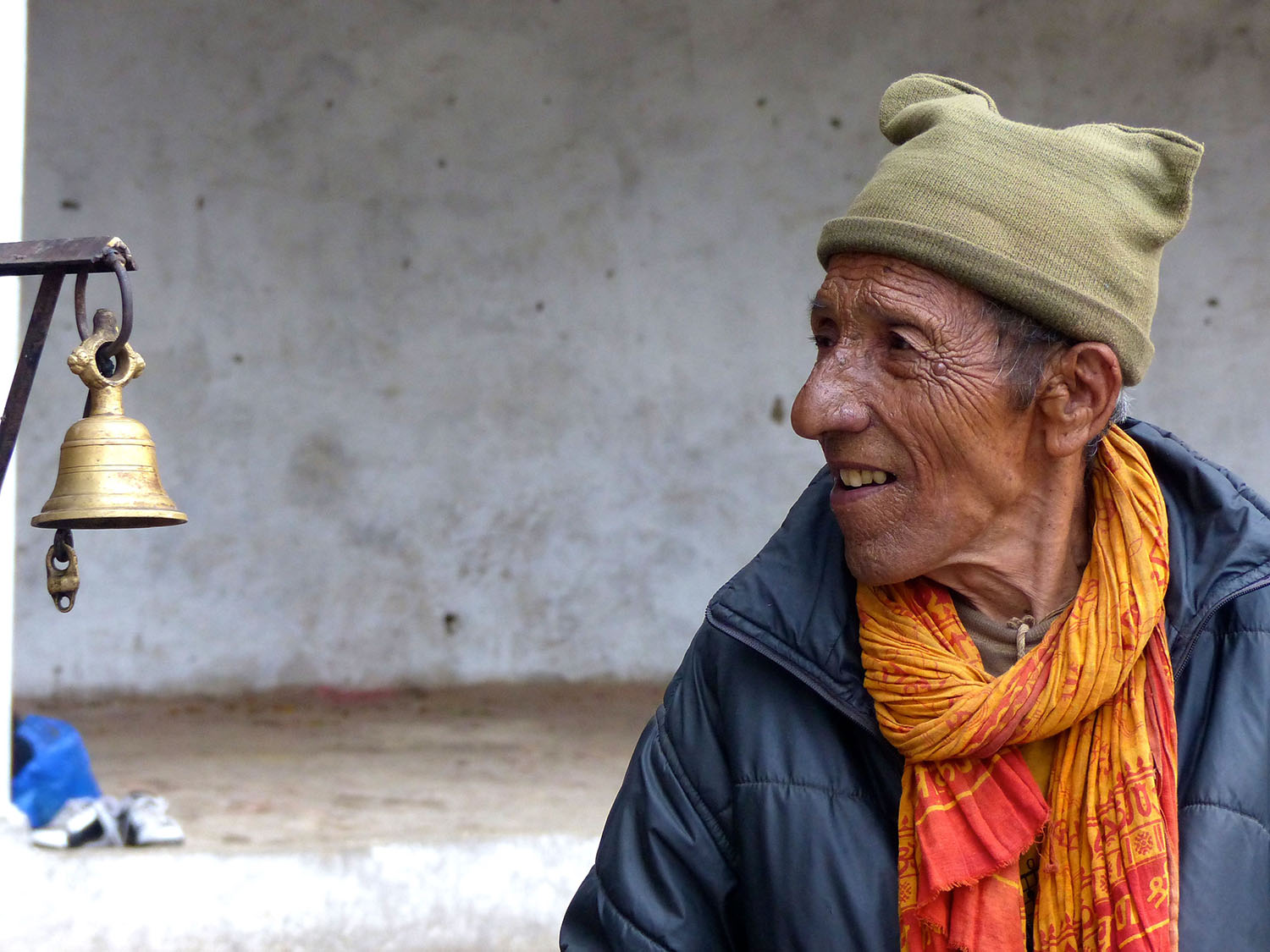 Man with orange scarf, Nepal